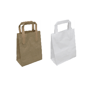 paper carry bags white or brown