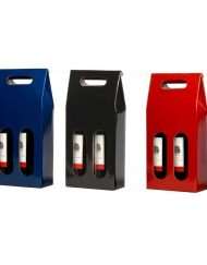 100 pieces Winebox with window for 2 bottles in several colours