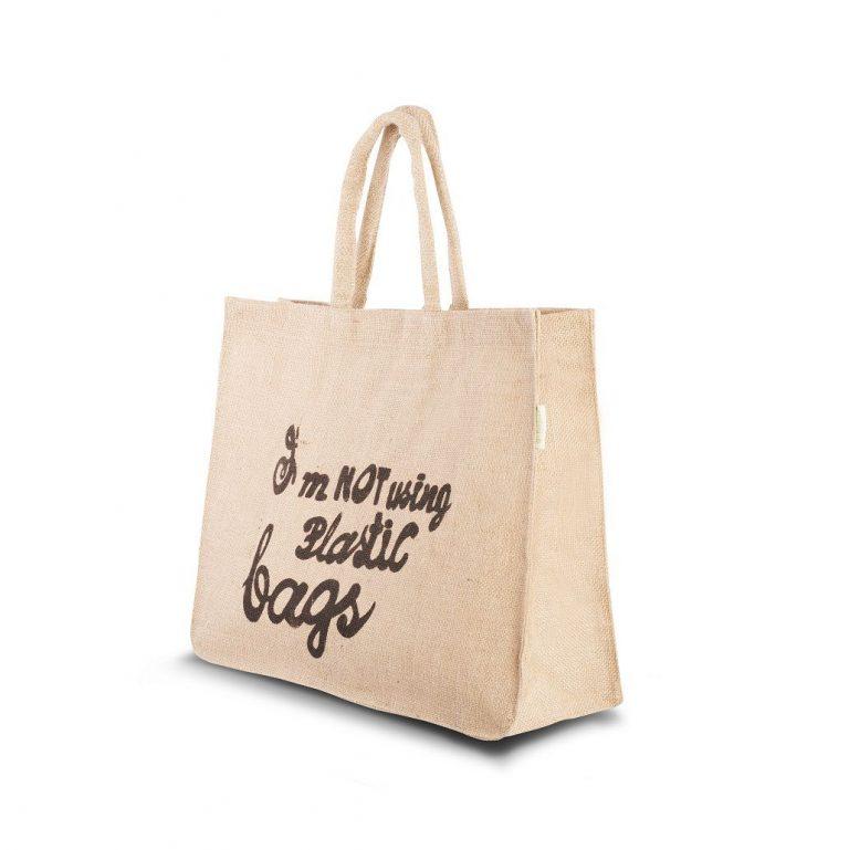 Jute bag slogan 38x47x15cm