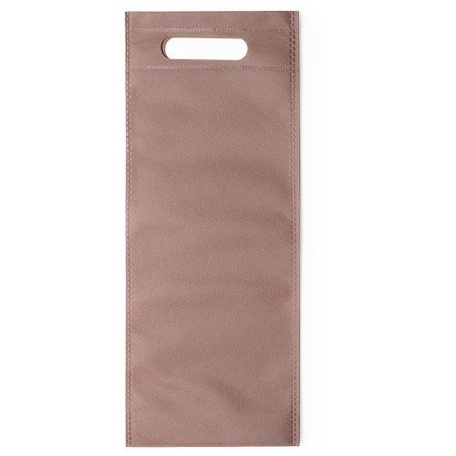 100 pcs Nonwoven Wine Bottle Bag with Handle16x40x16,5cm brown