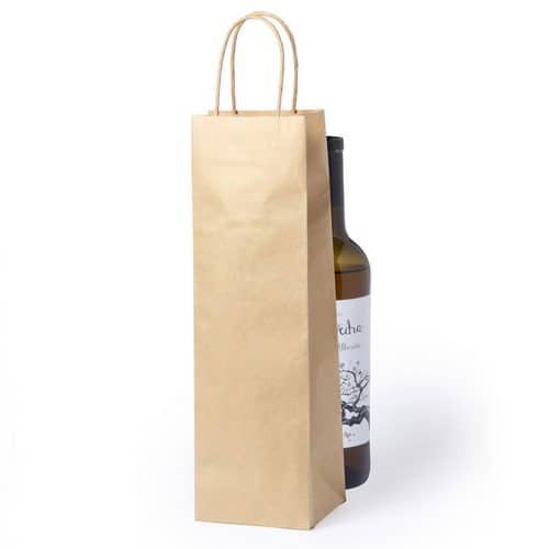 100 pieces Paper WinebottleBags with Twisted Cord