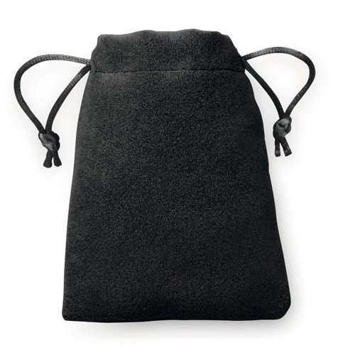 100 pieces Velvet Look Bags 8x10cm black