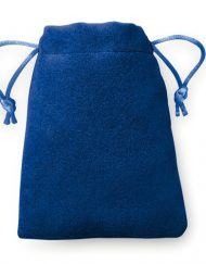 100 pieces Velvet Look Bags 8x10cm blue