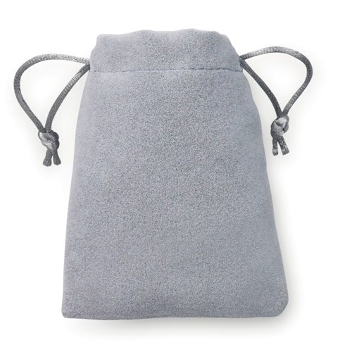 100 pieces Velvet Look Bags 8x10cm grey