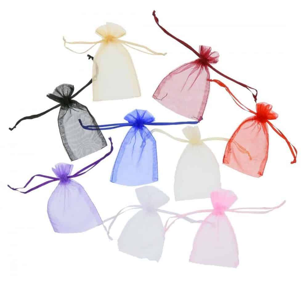 organza bag7x12cm mixed colours