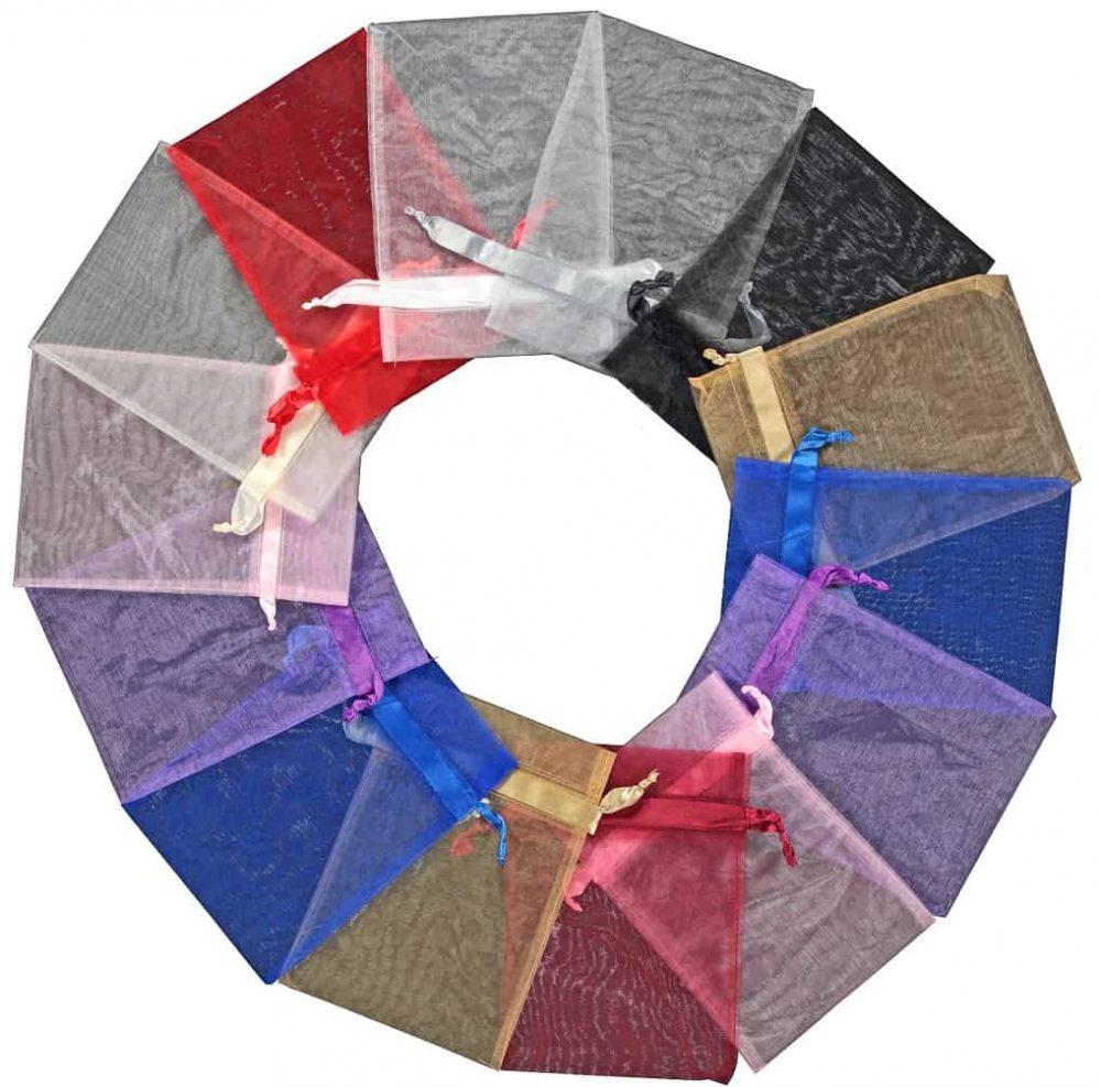 organzabag 20x28cm mixed colours 2.0