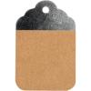 Cadeaulabel kraft-zilver 8.5x5.5cm