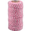 Cotton cord pink-white