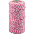 Cotton cord pink-white