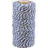 cotton cord blue-white