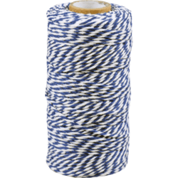 cotton cord blue-white