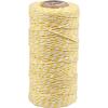 cotton cord yellow-white