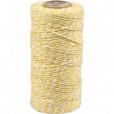 cotton cord yellow-white