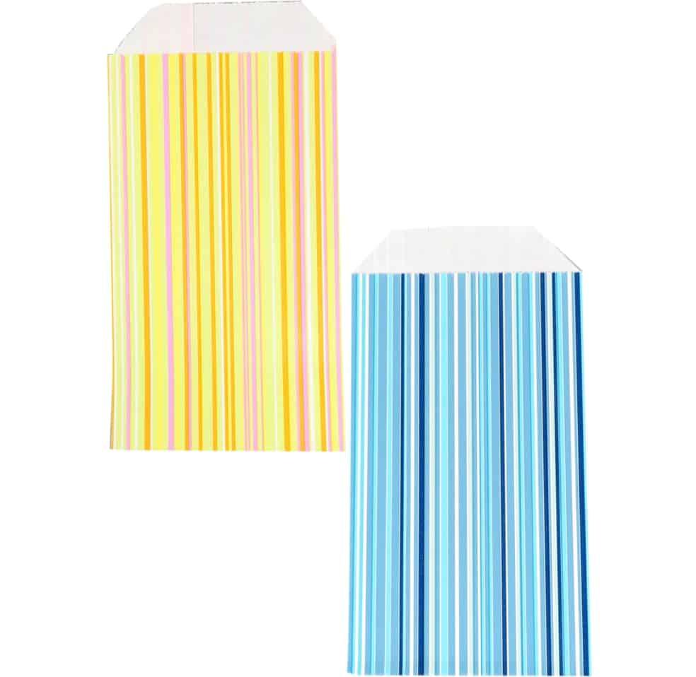 150 pcs Paper Bags Stripes Choose your color and size