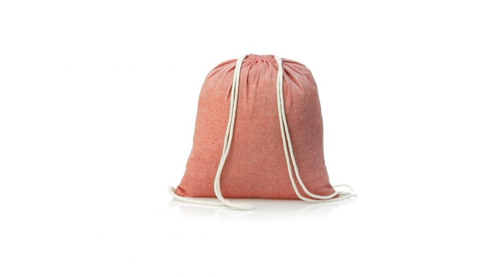 100% recycled backpack red