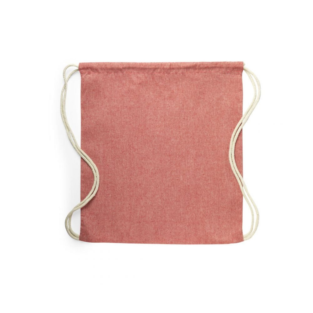 100% recycled cotton backpacks red
