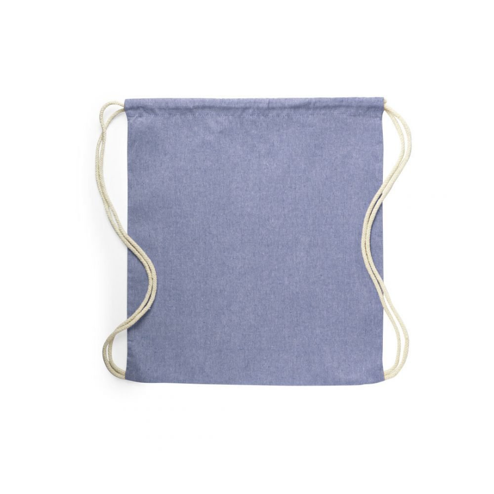 100% recycled cotton backpacks blue