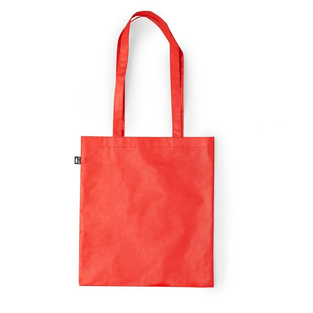 Laminated Shopping Bags 37x41cm red