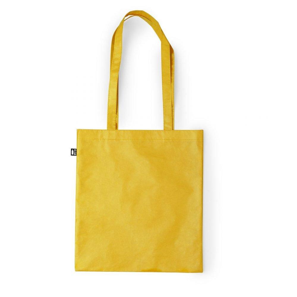 Laminated Shopping Bags 37x41cm yellow