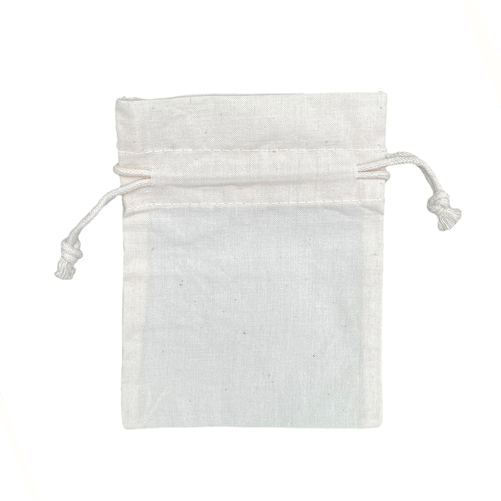 Ecological Cotton drawstring Bags 116 gr 13x18cm