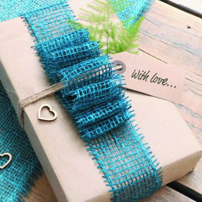 Jute 5 cm wrapping Niagara Blue 7450