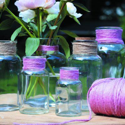 Jute rope 3 mm pink rose