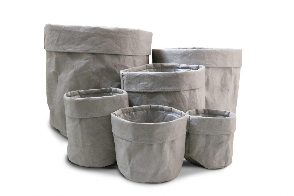 Paper Storage Bags grey