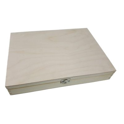 FSC Spruce Wooden Boxes with lid A4, A5, A6 natural unvarnished