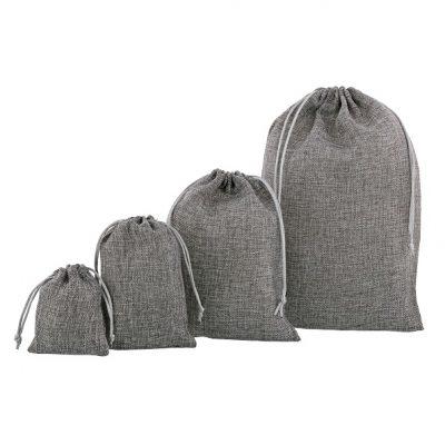 Mini Jute Look Bags (PE) Anthracite Various Sizes