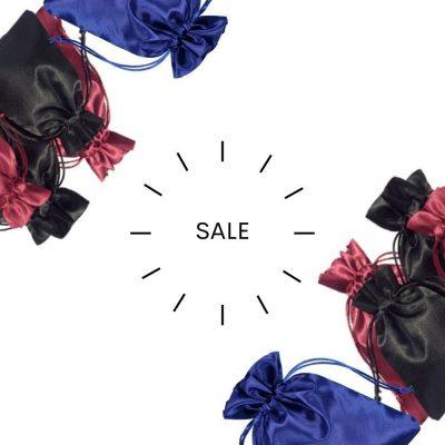 Satin Drawstring Bags SALE